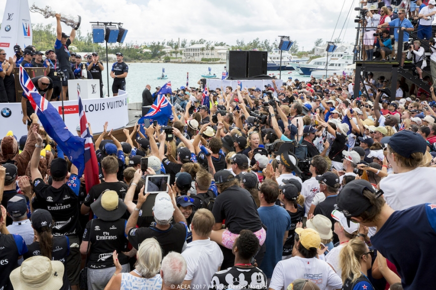 Bermuda (BDA) - 35th America's Cup Bermuda 2017 - America's Cup Match Presented by Louis Vuitton - Emirates Team New Zealand, Emirates, New Zealand Prize Giving